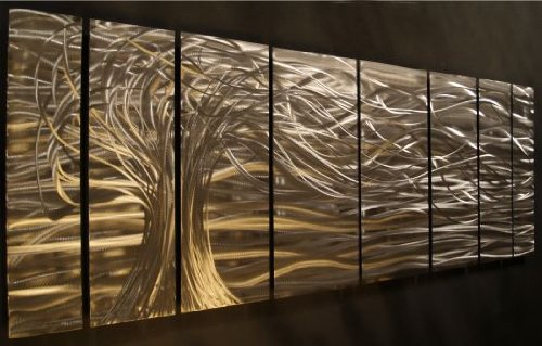 Amazon.com: Contemporary Metal Wall Art. Wall Sculptures By Ash Carl: Home  U0026 Kitchen