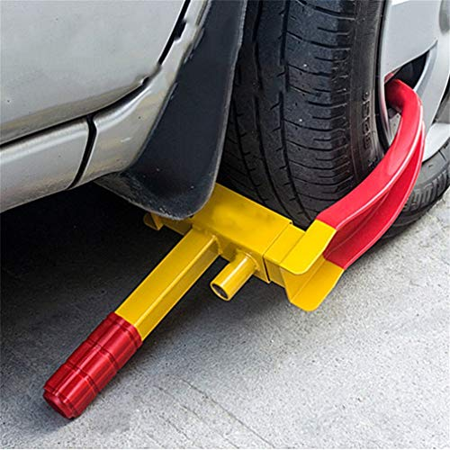 Universal Anti-Theft Car Wheel Clamp Heavy Duty Car Tyre Wheel Lock with 3 Keys Horned Vise, 17.5-27.5cm, Material: Steel