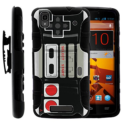 ZTE Max Boost Case | Rugged Armor Series Impact Hard Rubber Durable Unique Creative Cover + Belt Clip ZTE ZTE Max Boost+ by Miniturtle - Game Controller