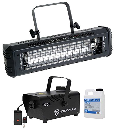 sh DMX 800W DMX Strobe Light w/ Sound Sensor + Fog Machine (Dmx 800 Watt Strobe Light)