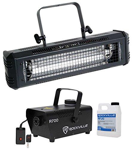 (American DJ Mega Flash DMX 800W DMX Strobe Light w/Sound Sensor + Fog Machine)