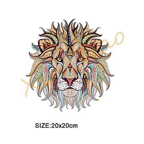 (Iron On Patches, Heat Transfer Repair Kit for DIY T-Shirt, Sweater, Clothing Decor Sewing Accessories (Gold Lion,)