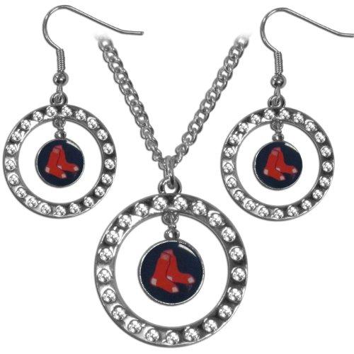 MLB Boston Red Sox Rhinestone Jewelry Set