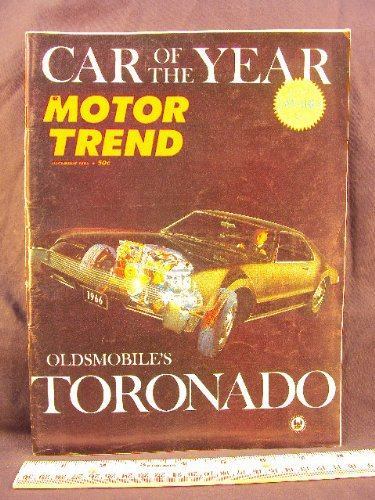 1965 65 December MOTOR TREND Magazine (Features: Special Award Issue Car of the Year Oldsmobile Toronado with Road Test)