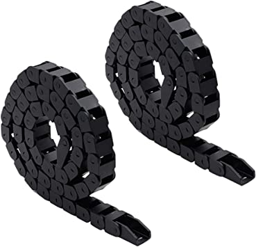 Pack of 2 TOUHIA 10 x 15mm Plastic Flexible Nested Semi Drag Chain Cable Wire Carrier 1M for 3D Printer CNC Machine Tools