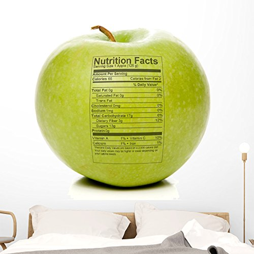 Apple Nutrition Facts Wall Decal by Wallmonkeys Peel and Stick Business Graphics (48 in W x 32 in H) WM299096