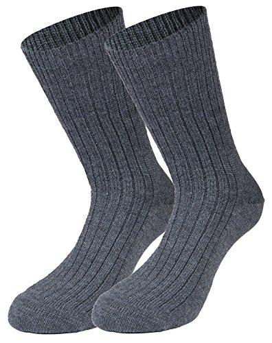 Tobeni 1 Paire de Chaussettes Militaires Travaillent Laine courte Couleur Gris Taille 44-45 1