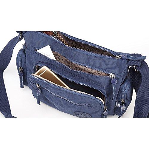 Foino Umhängetasche Wasserdicht Schultertasche Damen Reisetasche Lässige Sporttasche Leicht Seitentasche Mode Design Kuriertasche Taschen für Mädchen Büchertasche Vintage Rot 1