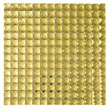 Diflart Mirror Glass Mosaic Tile Crystal Diamond Mosaic Tile 3/4 inch Pack of 5 (Gold)