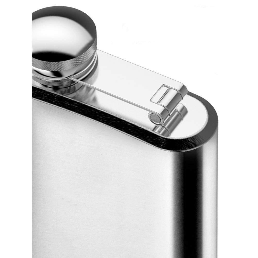 HINMAY 280 ml//500 ml Edelstahl Tragbarer Flachmann mit Trichter auslaufsichere Trinkware Dekanter-Flasche Whisky-Weintopf Lik/örhalter f/ür Reisen etc. 10, Silber Wild Angeln