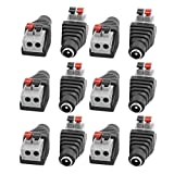uxcell 12Pcs CCTV Camera Clip Type Terminal Block 2.1x5.5mm DC Power Female Jack