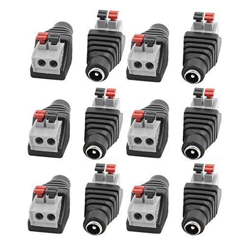 uxcell 12Pcs CCTV Camera Clip Type Terminal Block 2.1x5.5mm DC Power Female Jack by uxcell