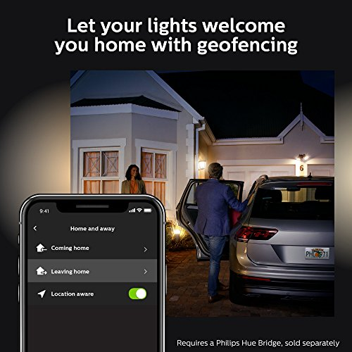 Philips Hue White Outdoor PAR38 13W Smart Bulbs (Philips Hue Hub required), 1 White PAR38 LED Smart Bulb, Works with Alexa, Apple HomeKit and Google Assistant