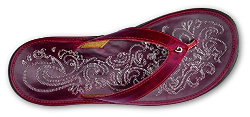Red Slipper Paniolo Red Women's Ohia OLUKAI Ohia wFp6qp