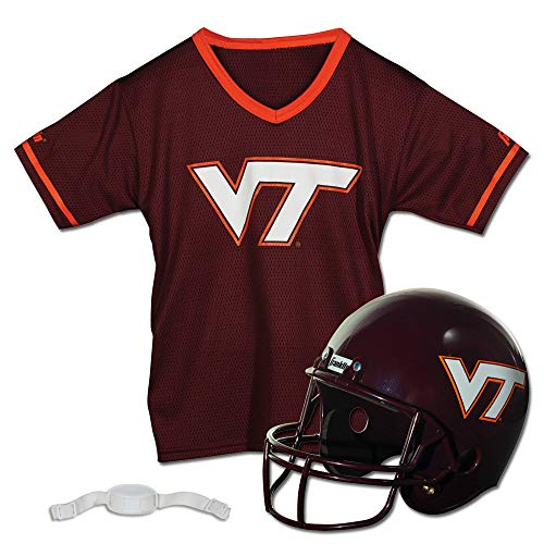 (Franklin Sports NCAA Virginia Tech Hokies Helmet and Jersey Set (Renewed))
