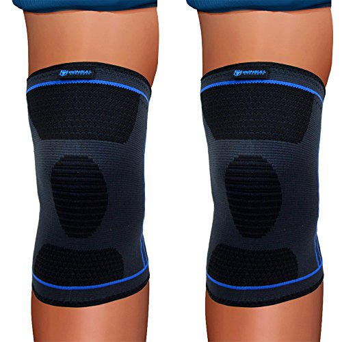 Knee Compression Sleeve (Single) - Support Brace for Running, Jogging, Sports, Joint Pain Relief, Arthritis - Improved Circulation and Injury Recovery (Medium)