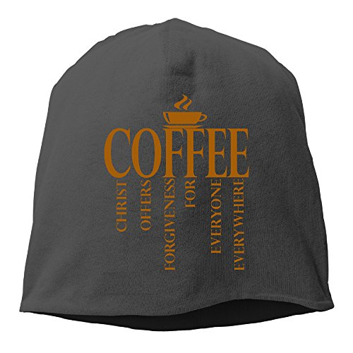 jesus-coffee-logo-beanie-hat-knit-slouchy-hat-toboggan-winter-hat