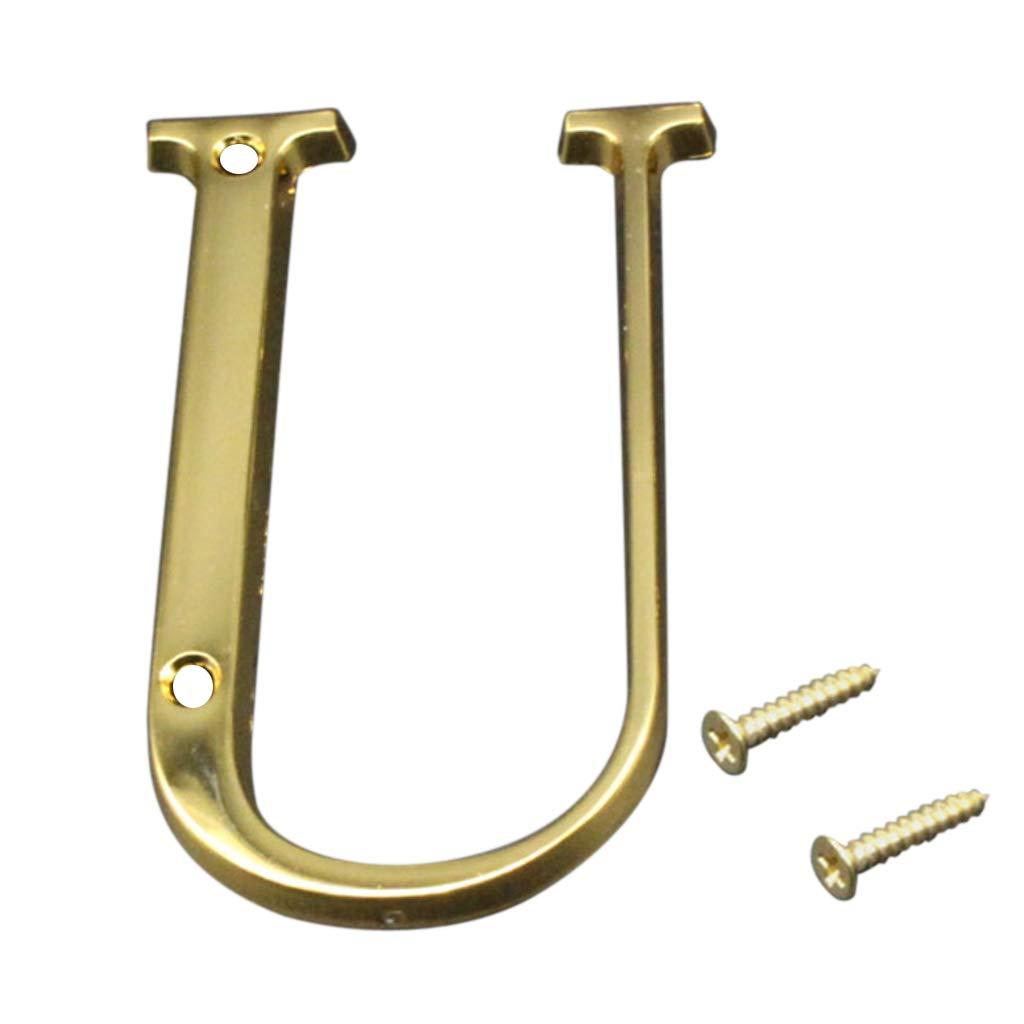 LOVIVER Letras del Alfabeto A ~ Z K N/úmero De Puerta Placa Flotante Pulida Adonros