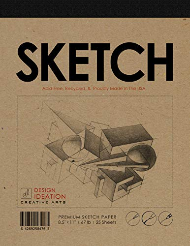 - Premium Paper Sketch Pad for Pencil, Ink, Marker, Charcoal and Watercolor Paints. Great for Art, Design and Education. (Jumbo 8.5