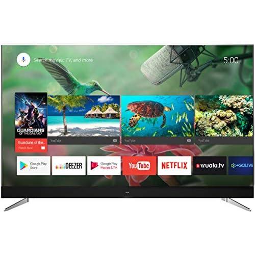chollos oferta descuentos barato TCL U49C7006 Televisor de 49 pulgadas Smart TV con 4K UHD HDR Premium Wide Color Gamut Android TV y JBL by HARMAN Aluminio Cepillado Clase de eficiencia energética A