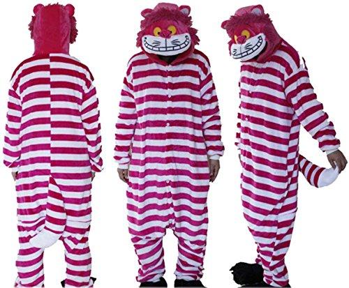 Costume Cat Pictures Cheshire (Bettyhome Adult Anime Unisex Pyjamas Kigurumi Halloween Cheshire Cat Onesie Costume (M Size (Height: 61