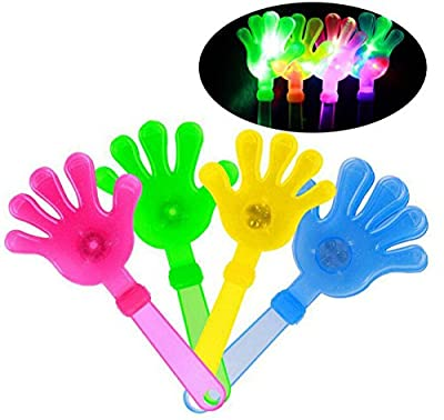 Fusicase New Creative 10pcs/lot Shiny Luminous Clapping Toy Neon Atmosphere Hand-clap Glow Stick Stage Prop Device Palm Style Bar concert
