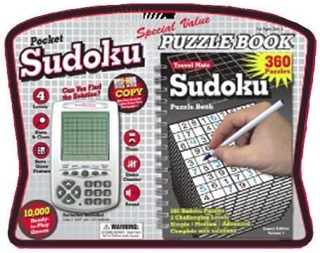 B000F5Z30M Sudoku Pocket Electronic Game with Puzzle Book 51uGsfLuWmL