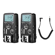 YouPro Pro-7 Wireless Shutter Timer Remote and Flash Trigger 2in1 with DC0 2.5mm PC Sync & Shutter Cable for Nikon D810 D800 D700 D500 D5 D4 D300 D300S D3 D3s Camera