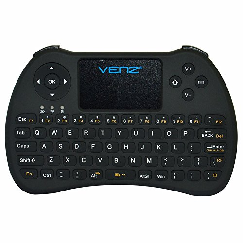 VENZ 2.4GHz Mini Wireless Keyboard with Touchpad Mouse and Rechargeable Battery (Doesn't work on fire tv stick, no backlit)