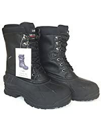 """LABO Men's Brown10"""" Winter Snow Hunting Boots Shoes Waterproof Insulated 108"""