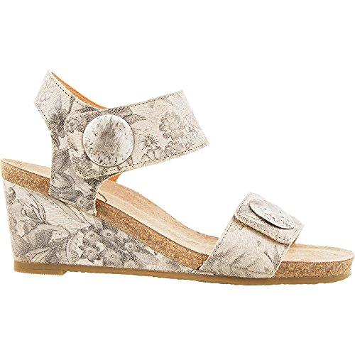 Taos Footwear Women's Carousel 2 Stone Floral Sandal 42 M EU/11-11.5 B (M) US