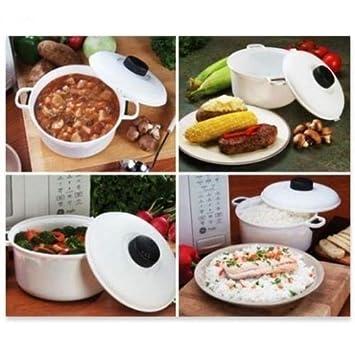 Microwave Pressure Cooker Steamer Vegetables Rice Pasta Cooking Pot Pan