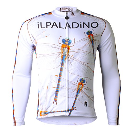 38' Direct Vent (ILPALADINO Men's Cycling Jersey Dragonfly Bike Shirt Cloting Full Zip Jacket With Pockets (M, Long Sleeve))