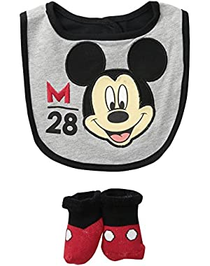 Baby Boys' Mickey Bib Bootie Set