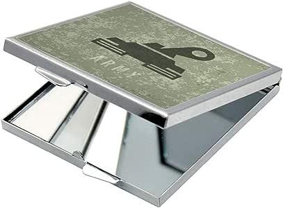 مرآة جيب، بتصميم دبابة جيش  ، شكل مربع