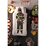 Snurk Firefighter Duvet Cover Kids Dress Up Bedding - Twin