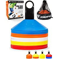 Pro Disc Cones (Set of 50) - Agility Cones with Carry Bag...