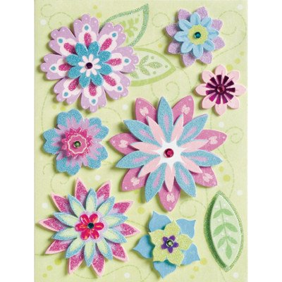 K&Co -Sparkly Sweet- Sparkle Blossoms Adhesions #1309
