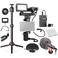 Movo HUGE Smartphone Video Kit V8 with Grip Rig, Wireless/Shotgun/Mini & 360° Stereo Microphones, 16 & 30 LED Lights, Pro Mini Tripod & Remote - for iPhone 6, 7, 8, X, Samsung Galaxy, Note & More