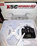 SYMA Quadcopter X5SW 4 Channel Remote Controlled HD Camera for Real Time Video/Image Transmission, White