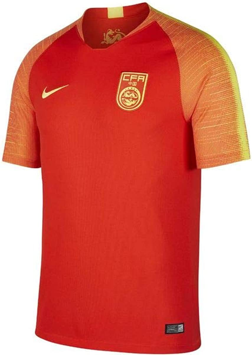 Amazon.com: Nike China Home Soccer Jersey Mens 2018 - Red/Yellow ...