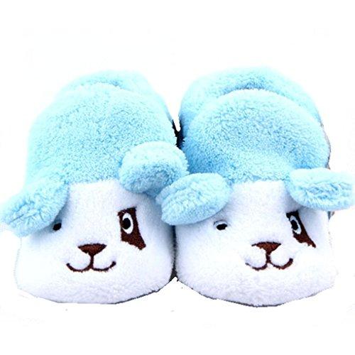Adorable bebé niño o niña patucos de perro, color azul y blanco (0–12meses)