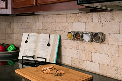 Professional Grade 14'' Stainless Steel Magnetic Knife Holder, Multipurpose Functionality, Easy To Install, Mounts on Refrigerator. by Kitchen Selections (Image #5)