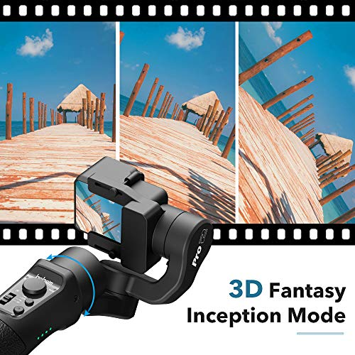 2745044762e5b Hohem 3-Axis Gimbal Stabilizer for GoPro Hero 7/6/5/4/3, DJI Osmo Action,  Yi Cam 4K, AEE, SJCAM Sports Cams Action Camera, with Sport Inception Mode,  ...