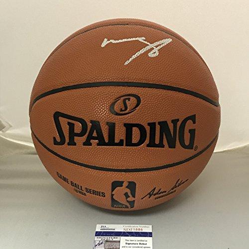 Autographed/Signed Mohamed Mo Bamba Texas Longhorns Spalding Full Size Basketball JSA COA (Autographed Basketball Spalding Mini)