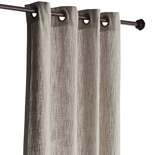 Pier 1 Imports Unlined Cotton Curtain Cassidy Chambray Natural 84