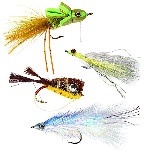 The Fly Crate Bass & Pike Fly Fishing Assortment | 4 (Assortment Four)