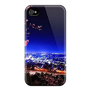 High Quality DqLWGfg3018ZXPAU Sakura Branches Over The City Tpu Case For Iphone 4/4s by icecream design