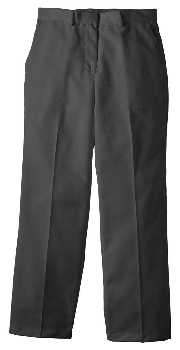Edwards Garment Women's Straight Leg Flat Front Pant, Dark Grey, 14 UL