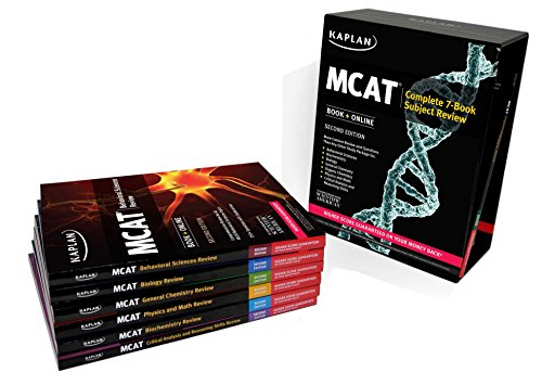 Kaplan MCAT Complete 7-Book Subject Review: Book + Online (Kaplan Test Prep)